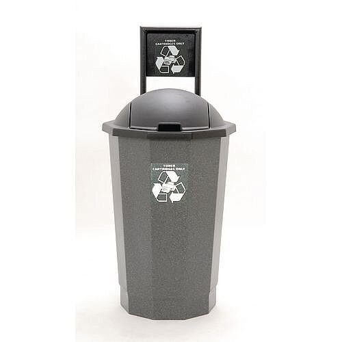 Recycling Bin Bank System For Toner Cartridges Granite 75L