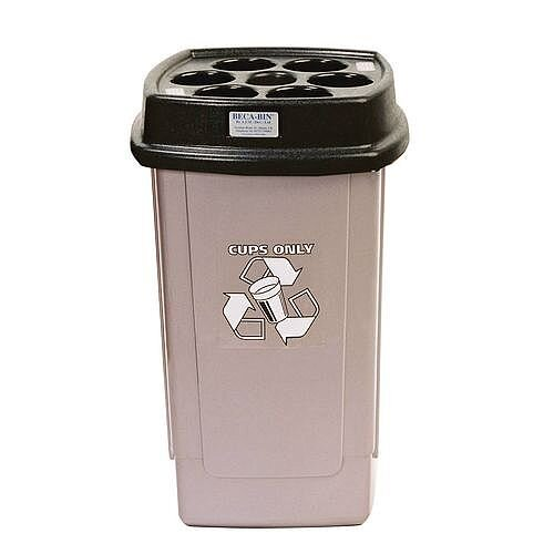 Disposable Cup Bin Silver