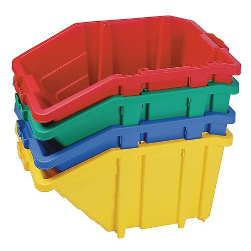 Large Storage Bin Complete With Opening Lid Sold Singly Choice Of Four Colours Green