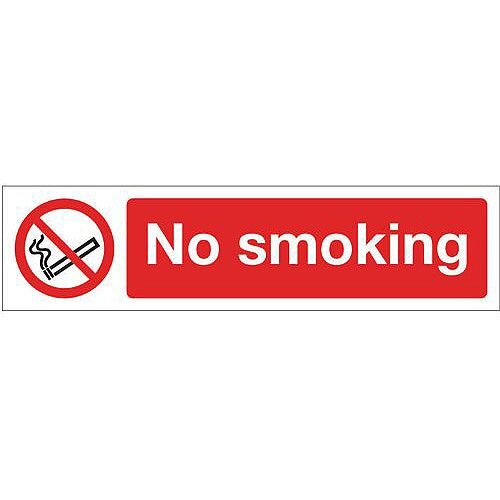 Rigid Plastic Mini Prohibition Sign No Smoking