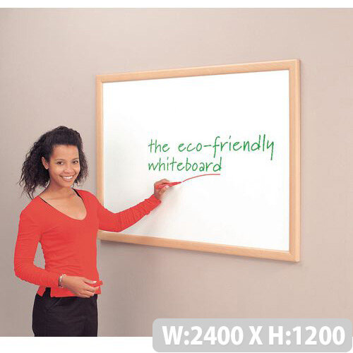 Eco-Friendly Whiteboard Aluminium Effect Frame 1200X2400mm
