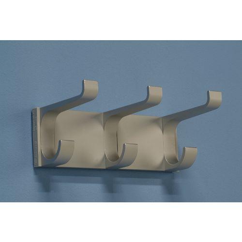Aluminium Coat Rack 3 Hooks L 220mm