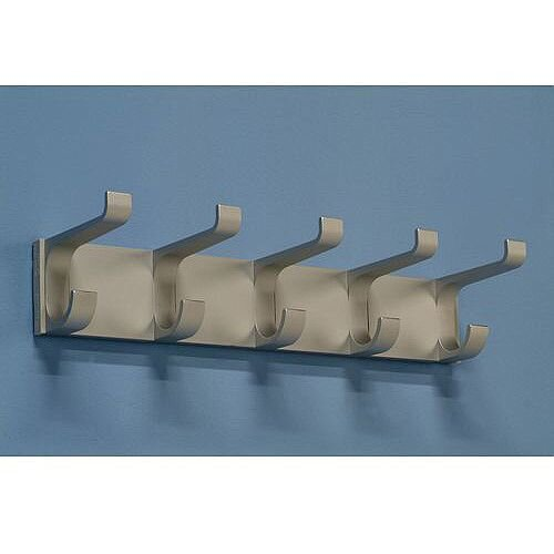 Aluminium Coat Rack 5 Hooks L 410mm