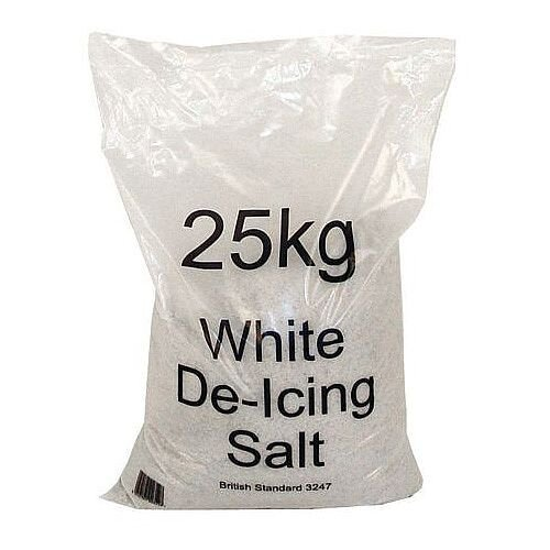 White De-Icing Salt 1x25Kg Bag