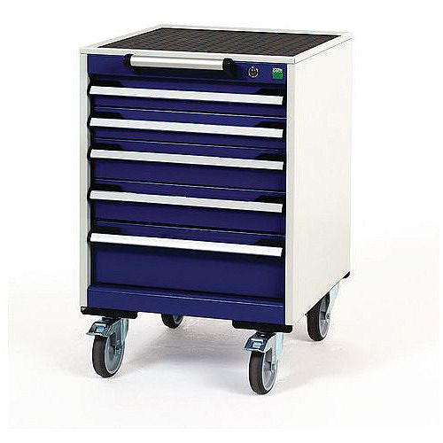 Heavy Duty Mobile Cabinet 2x75mm 2x100mm And 1x150mm Drawers H x W x D mm: 780 x 525 x 525