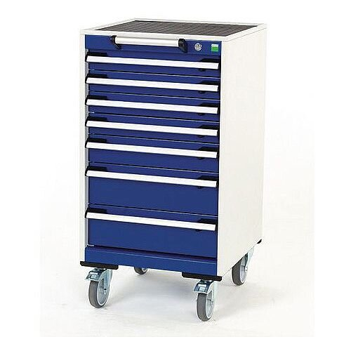 Heavy Duty Mobile Cabinet 4x75mm 1x100mm And 2x150mm Drawers H x W x D mm: 980 x 525 x 525