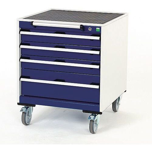 Heavy Duty Mobile Cabinet 3x100mm And 1x200mm Drawers H x W x D mm: 780 x 650 x 650