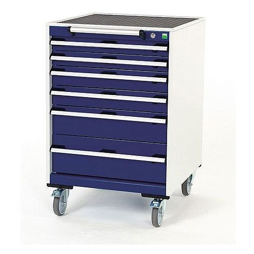 Heavy Duty Mobile Cabinet 2x75mm 2x100mm 1x150mm And 1x200mm Drawers H x W x D mm: 980 x 650 x 650