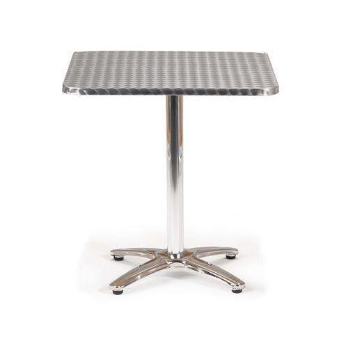 Aluminium Bistro Square Pedestal Table