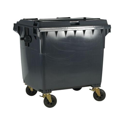 4-Wheel Wheelie Bin With Lockable Lid 660L Grey