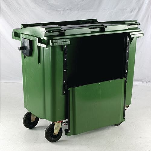 4-Wheel Wheelie Bin Drop Down Front 770L Green