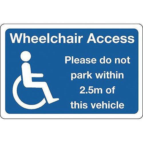 Sign Wheelchair Access 300X100 Vinyl