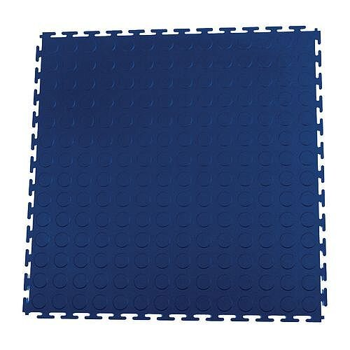 Hard 7Mm Thick Studded Floor Tiles For Industrial Use Blue