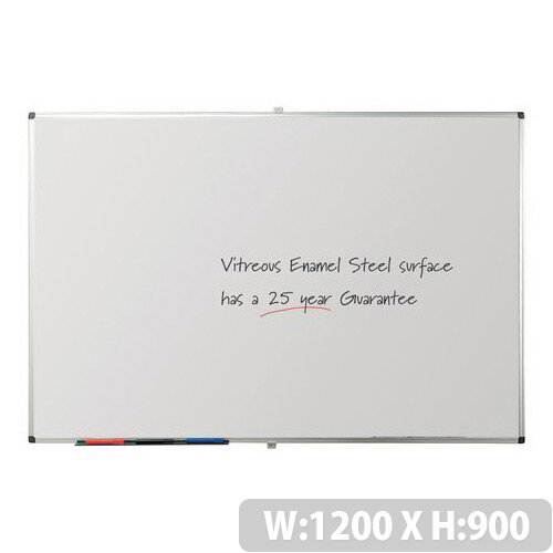 Writeon Premium Vitreous Enamel Magnetic Steel Whiteboard 900X1200mm
