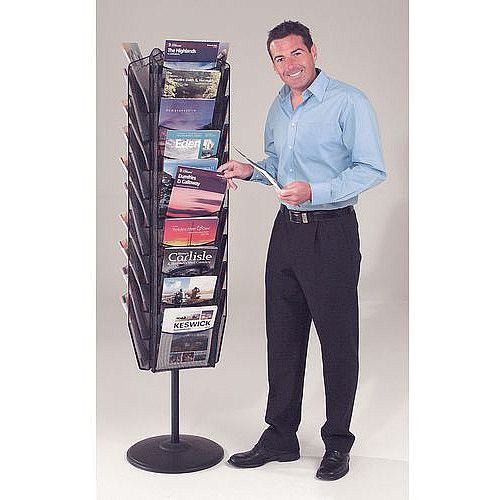 Carousel Mesh Brochure Dispenser 30 X A4 Pockets