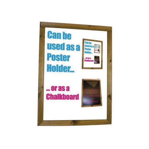 Dark Oak Poster Holder &Chalkboard A3