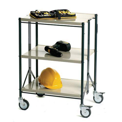 Folding Trolley Capacity 3 Shelves Capacity 80kg
