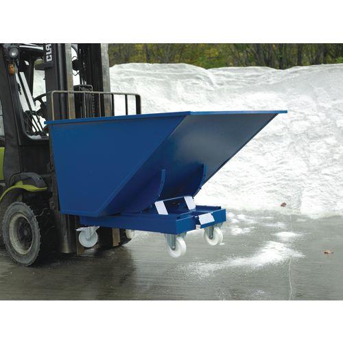 Castor Set 150mm Diameter Nylon Castors Capacity 110kg For Universal Tipping Skip Blue SY382520