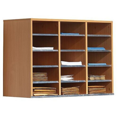 Beech Wall Mounted Sorting Unit