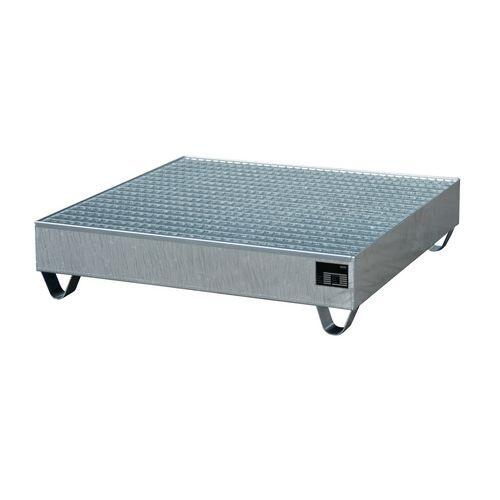 Value Sump Pallet Galvanised For 1 Drum HxWxD 455x800x800mm Capacity 220L