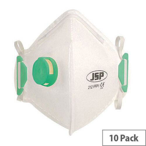 P1 Fold Flat Disposable Masks P1 Valved Pack of 10