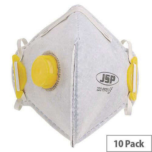 P2 Fold Flat Disposable Masks P2 Odour Valved Welding Pack of 10