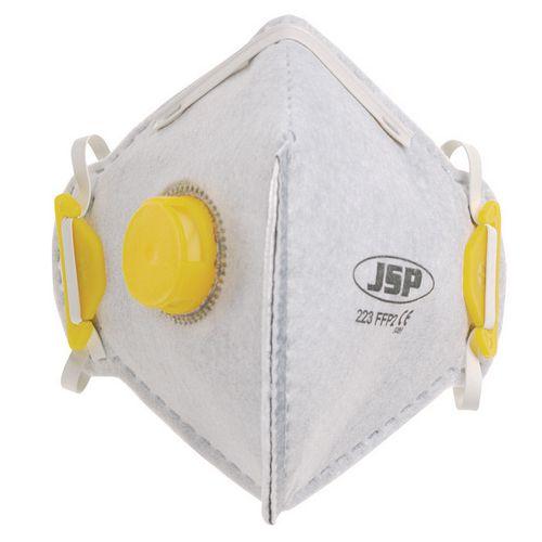 P2 Fold Flat Disposable Masks P2 Odour Valved Welding Pack of 10