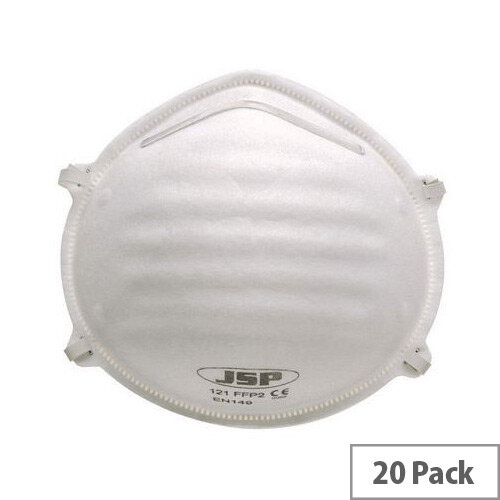 P2 Moulded Disposable Masks P2 Unvalved Pack of 20