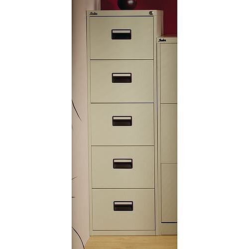 5 Drawer Tall Filing Cabinet Light Grey