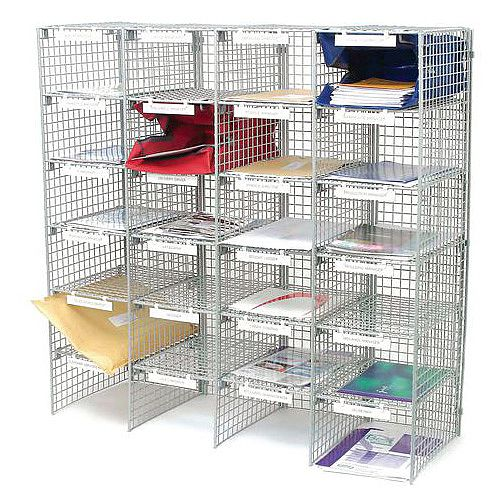 Mail Sort Unit With 24 Compartments