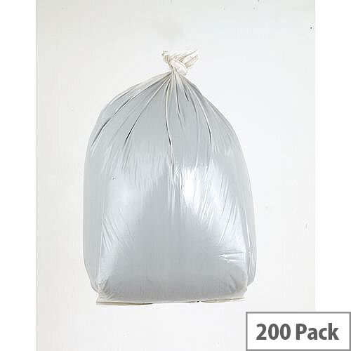 Waste Sacks Medium Duty White 90L Pack of 200