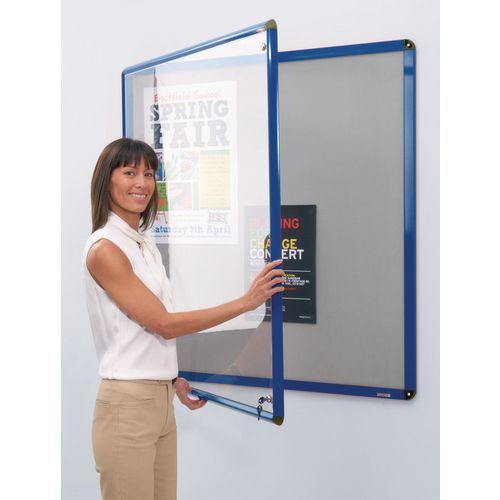 Heavy Duty Tamperproof Slimline Lockable Office Noticeboard Aluminium Frame HxW 900x600mm