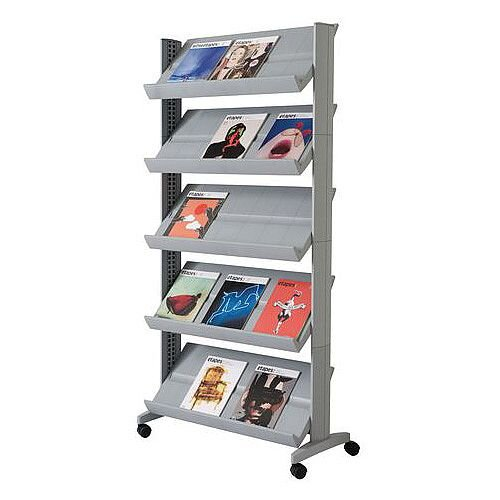 Silver Standard Mobile Adjustable Shelving 15 X A4 Pockets