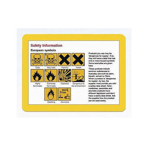 Self-Adhesive Document Frames A4 Self-Adhesive Yellow Pack of 10