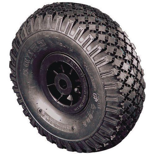 Polypropylene Centre With Pneumatic Tyre Load Capacity 120kg Bore 25mm Plain Wheel Diameter 260mm Load Capacity 120kg