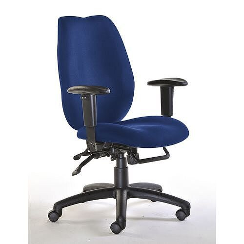 Deluxe Ergonomic High Back Task Operator Office Chair Blue