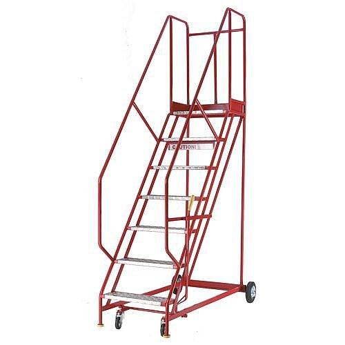 Heavy Duty Warehouse Steps  Punched Steel Tread Platform Height 1750Mm Capacity 150kg