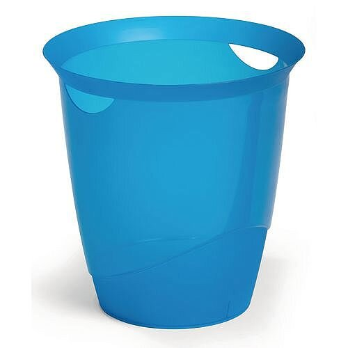 Plastic Waste Basket Office Desk Bin Blue 16L