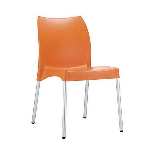 Polypropylene And Aluminium chair Orange