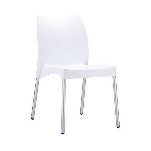 Polypropylene And Aluminium chair White