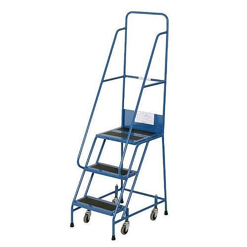 Narrow Aisle Warehouse Step Max Height 1.75M Platform Height 750Mm 3 Treads Capacity 300kg