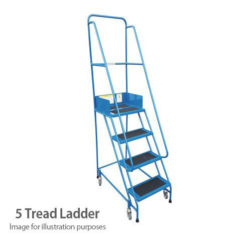 Narrow Aisle Warehouse Step Max Height 2.25M Platform Height 1.25M 5 Treads Capacity 300kg