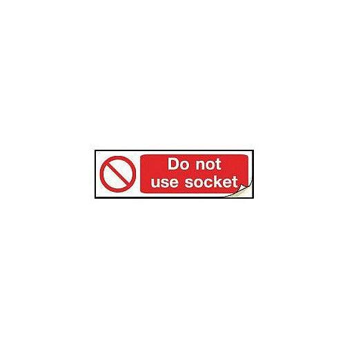 Plug Socket Prohibition &Warning Sign Do Not Use Socket