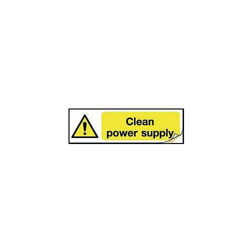 Plug Socket Prohibition &Warning Sign Clean Power Supply