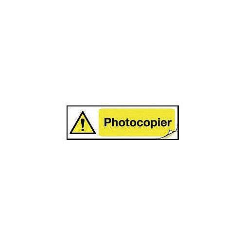 Plug Socket Prohibition &Warning Sign Photocopier
