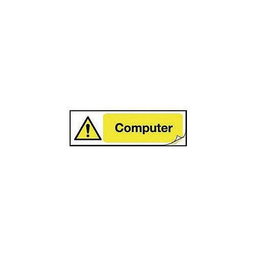 Plug Socket Prohibition &Warning Sign Computer