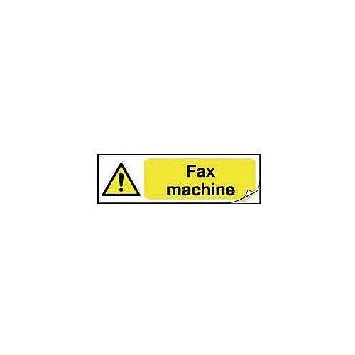 Plug Socket Prohibition &Warning Sign Fax Machine
