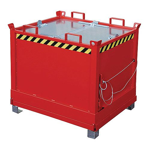 Bottom Hinged Skip/Container Red 1500kg Capacity SY386340