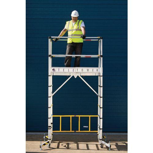 Telescopic Aluminium Work Tower Aluminium Version Max Height 4m