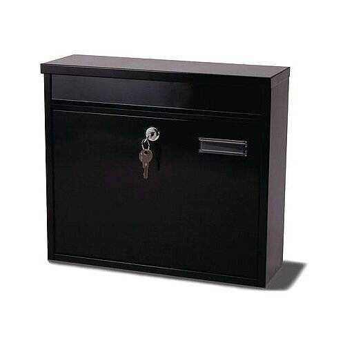 Ouse Modular Post Box Black